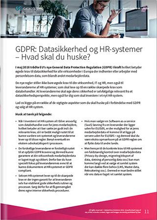 GDPR og Datasikkerhed