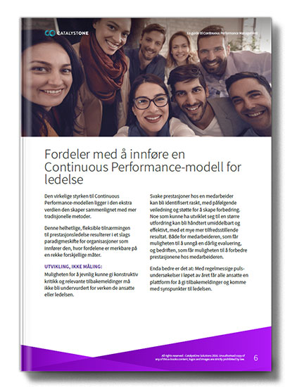 Fordeler med Continuous Performance modell